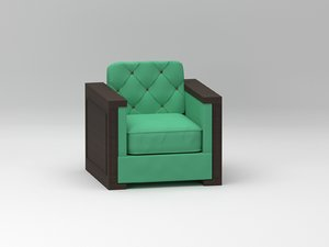 3D poltrona armchair design model