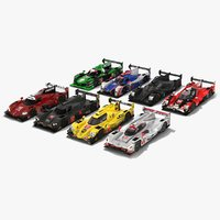 3D model pack imsa weathertech sportscar