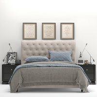 RH Chesterfield Tufted Fabric Bed