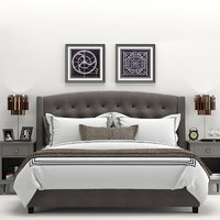 RH Warner Tufted Fabric Bed