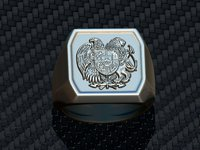 armenia emblem signet ring 3D model