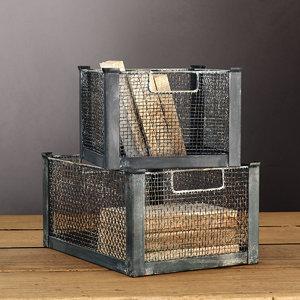 mesh metal bin max