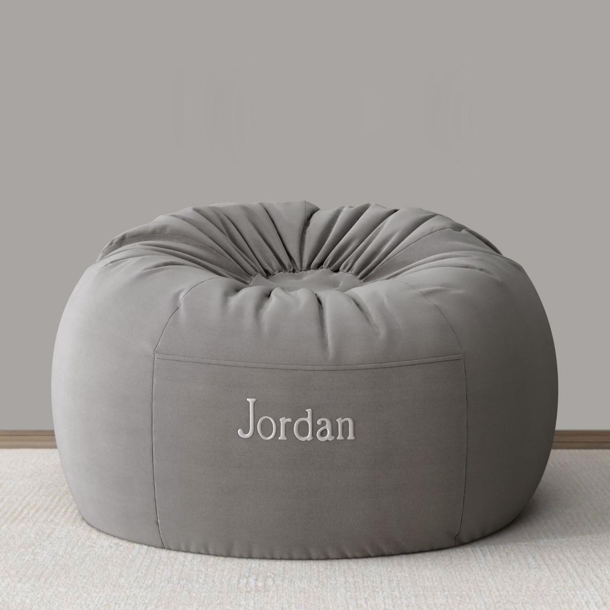 Superb Washed Velvet Bean Bag Cover Pabps2019 Chair Design Images Pabps2019Com