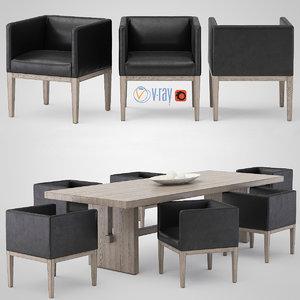 dining table pacamara 3d max