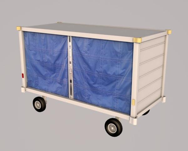 3D baggage cart