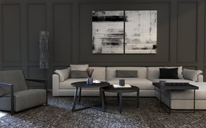 modern living room sofa 3D