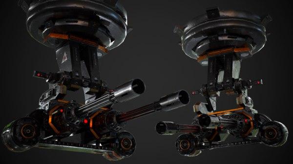 auto turret 3D model