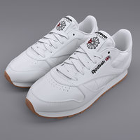 reebok classic leather white 3D model