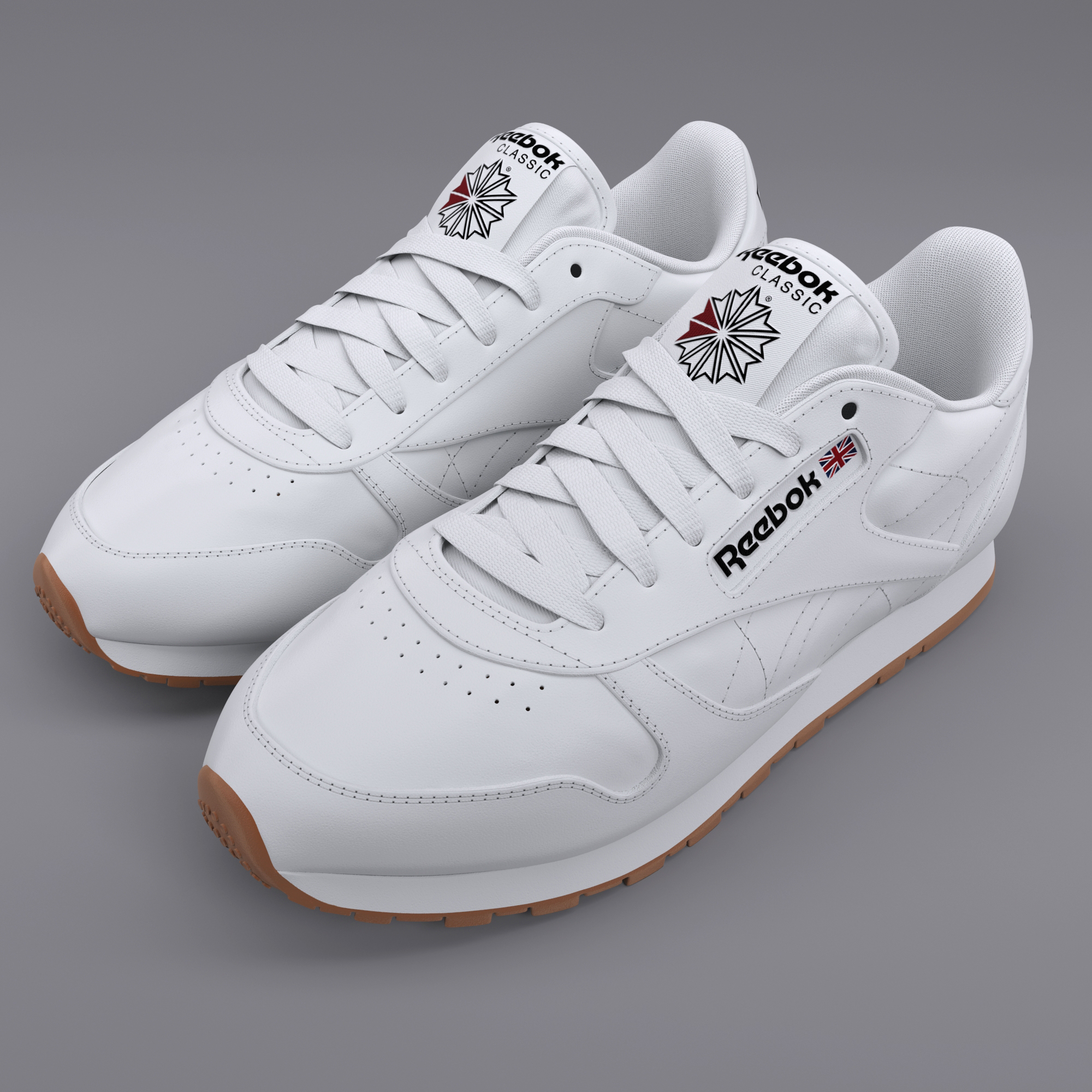 reebok classic leather white gum