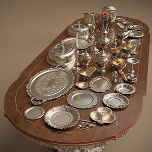 silver holloware 44 items model