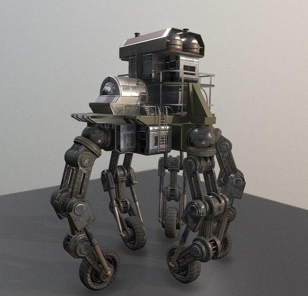 3D futuristic building vehicle