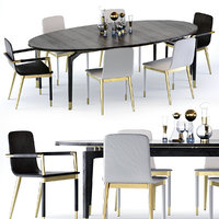 Baker Vendome Table and Folio Chair