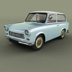 1965 trabant 601 kombi 3D
