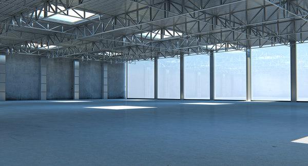 3D large modern storehouse