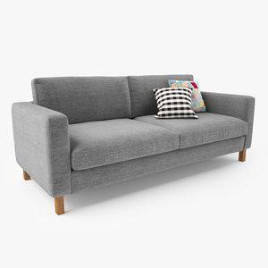 3d ikea karlstad sofa seat
