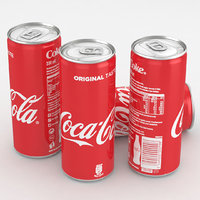 Beverage Can Coca-Cola 330ml Tall