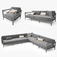 3d restoration hardware mustique sofa