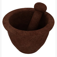 photorealistic mortar pestle 3D model