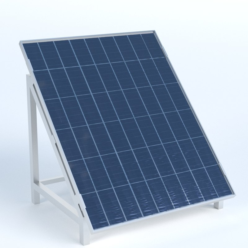 3D model solar panel stand