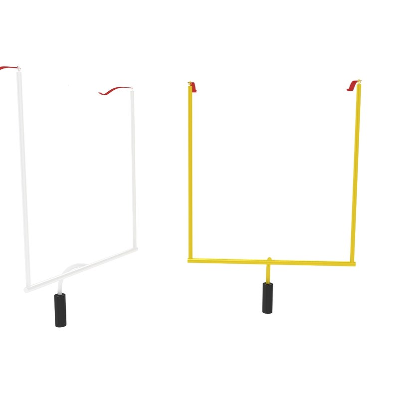 3D football uprights