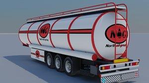 3D model trailer-fuel tank