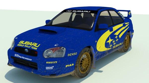 3D subaru impreza rally stylized