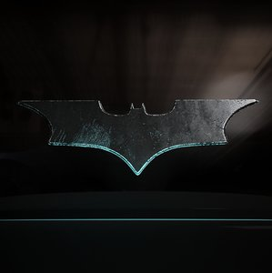 3D batarang throwing stars