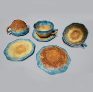 glazed tea cup teacup 3D model