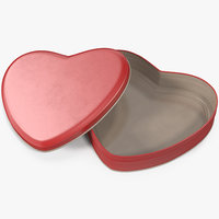 3D heart tin