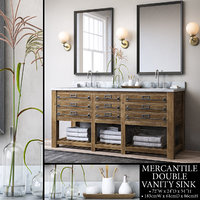 RH MERCANTILE DOUBLE VANITY SINK