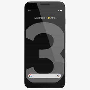 3D google phone pixel 3
