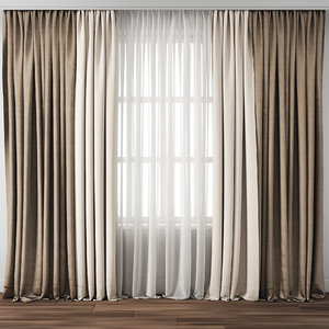 3D curtain fabric drape