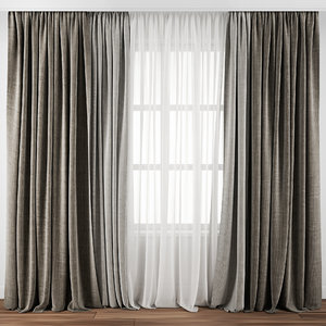 curtain fabric drape 3D