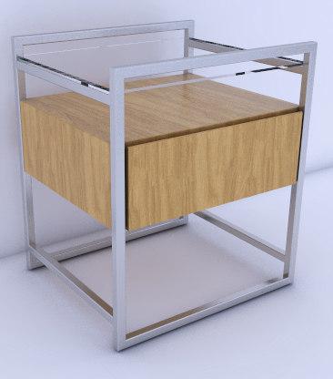 3D table nightstand model