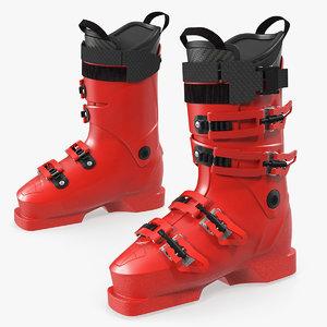 ski boots generic 3D model