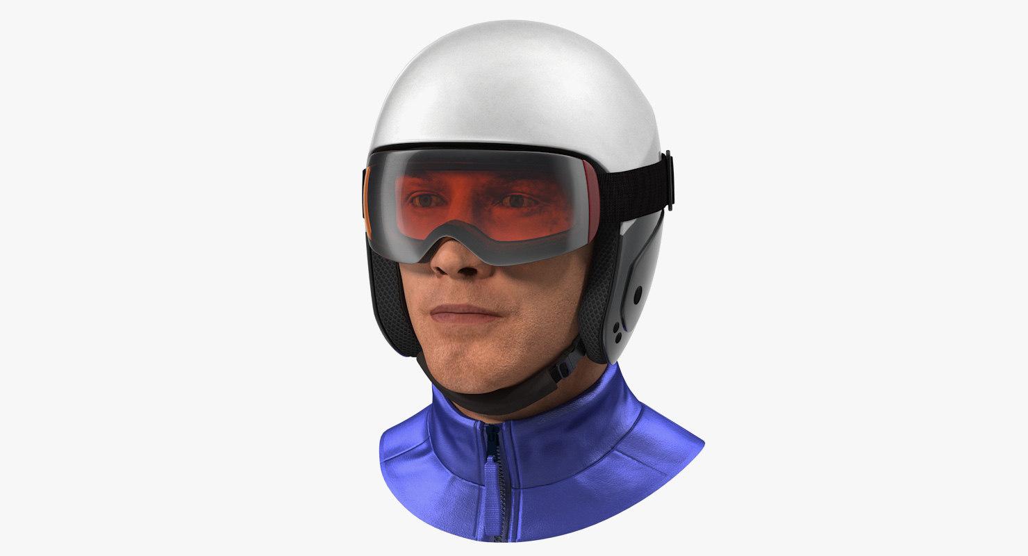 skier head helmet 3D model
