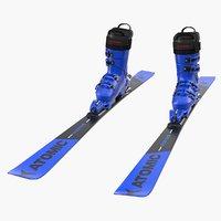 3D atomic ski boots