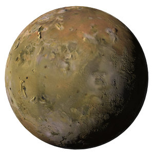 3D model io j1 jupiter moon
