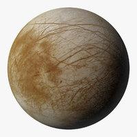 3D europe j2 jupiter moon