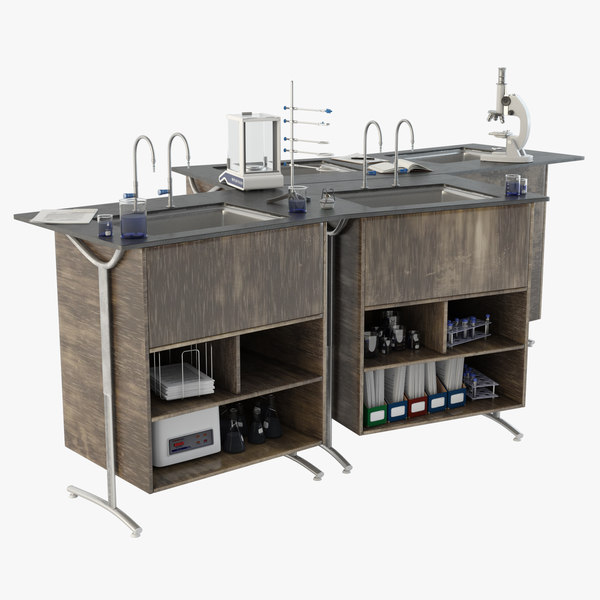 3D laboratory island model