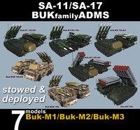 3D model variants sa-11 sa-17