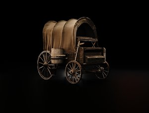 3D stage coach wild west model