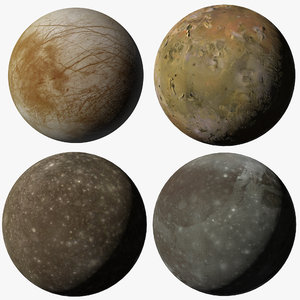 galilean moons jupiter 3D