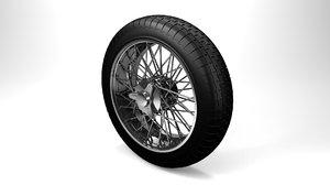 classic spoked car wheel 3D model