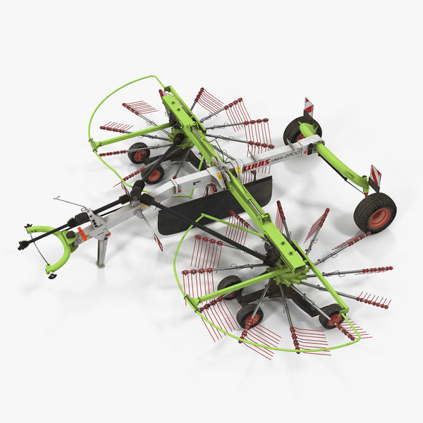 3D model used twin rotor hay