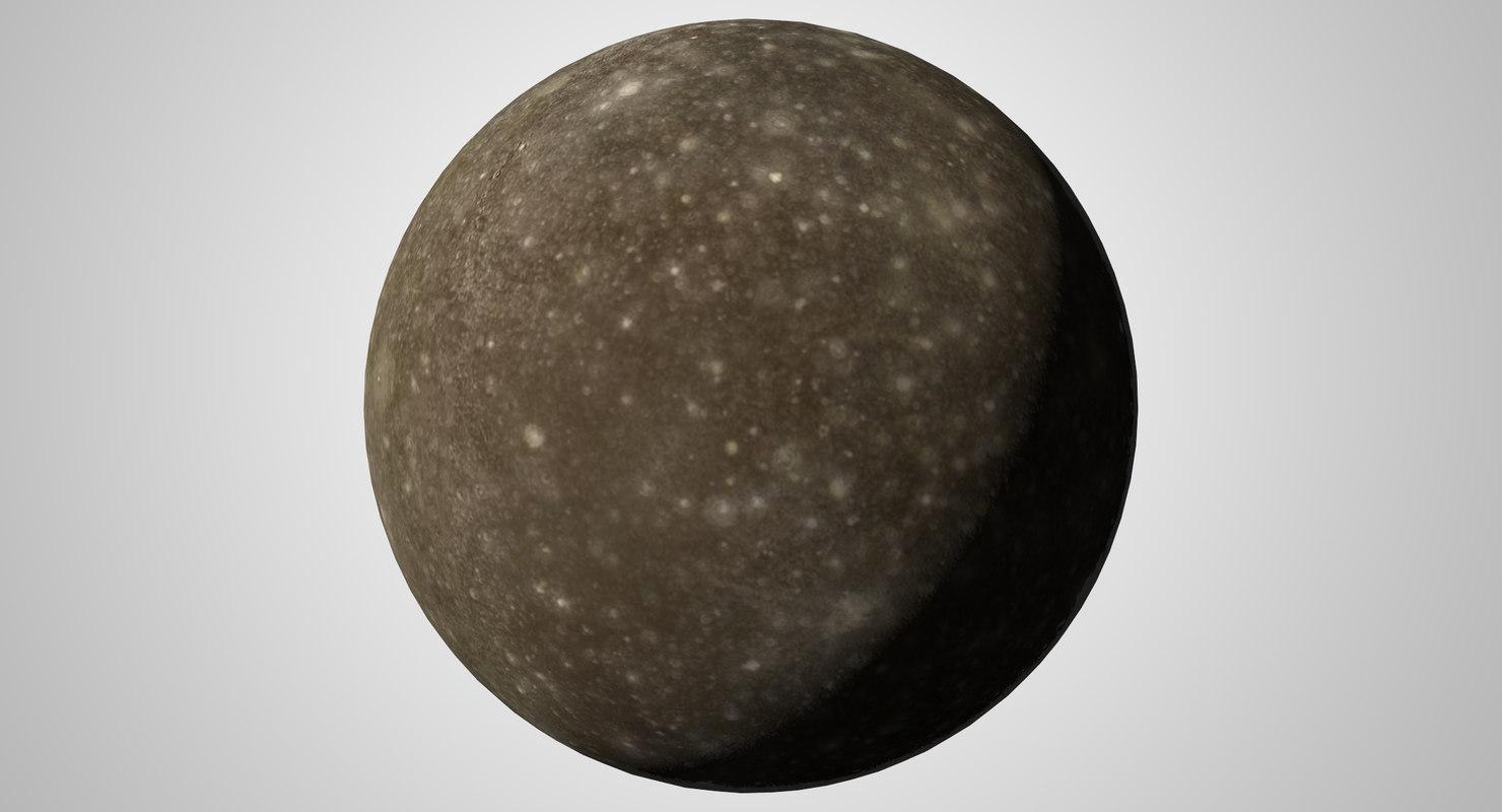 3D model callisto j4 jupiter moon