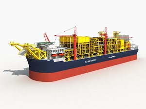 fpso factory oil ship 3D model