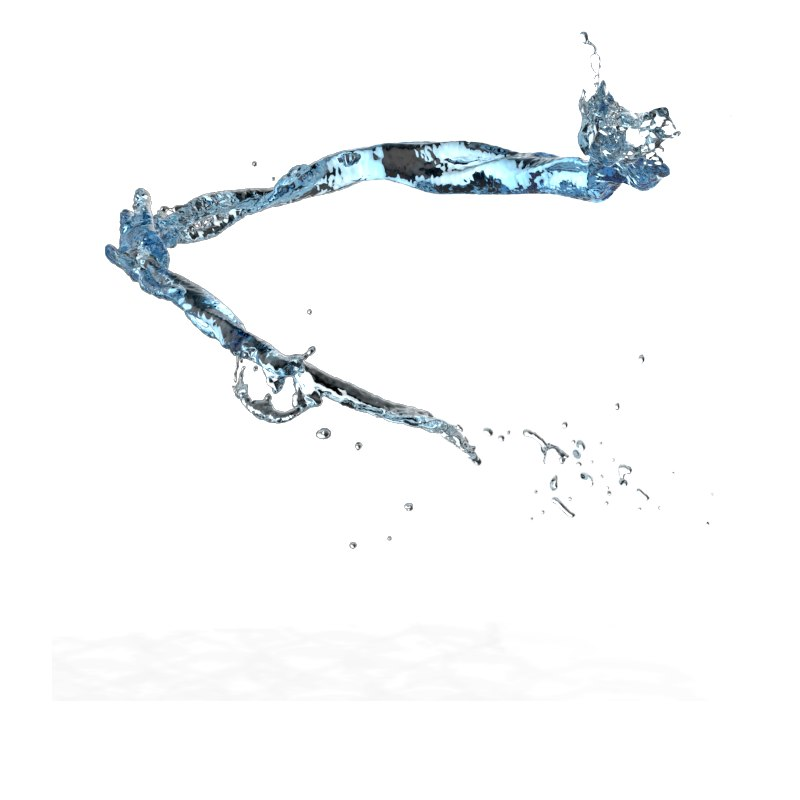 3D splash water flow model
