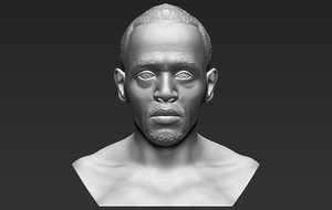 usain bolt bust ready 3D model