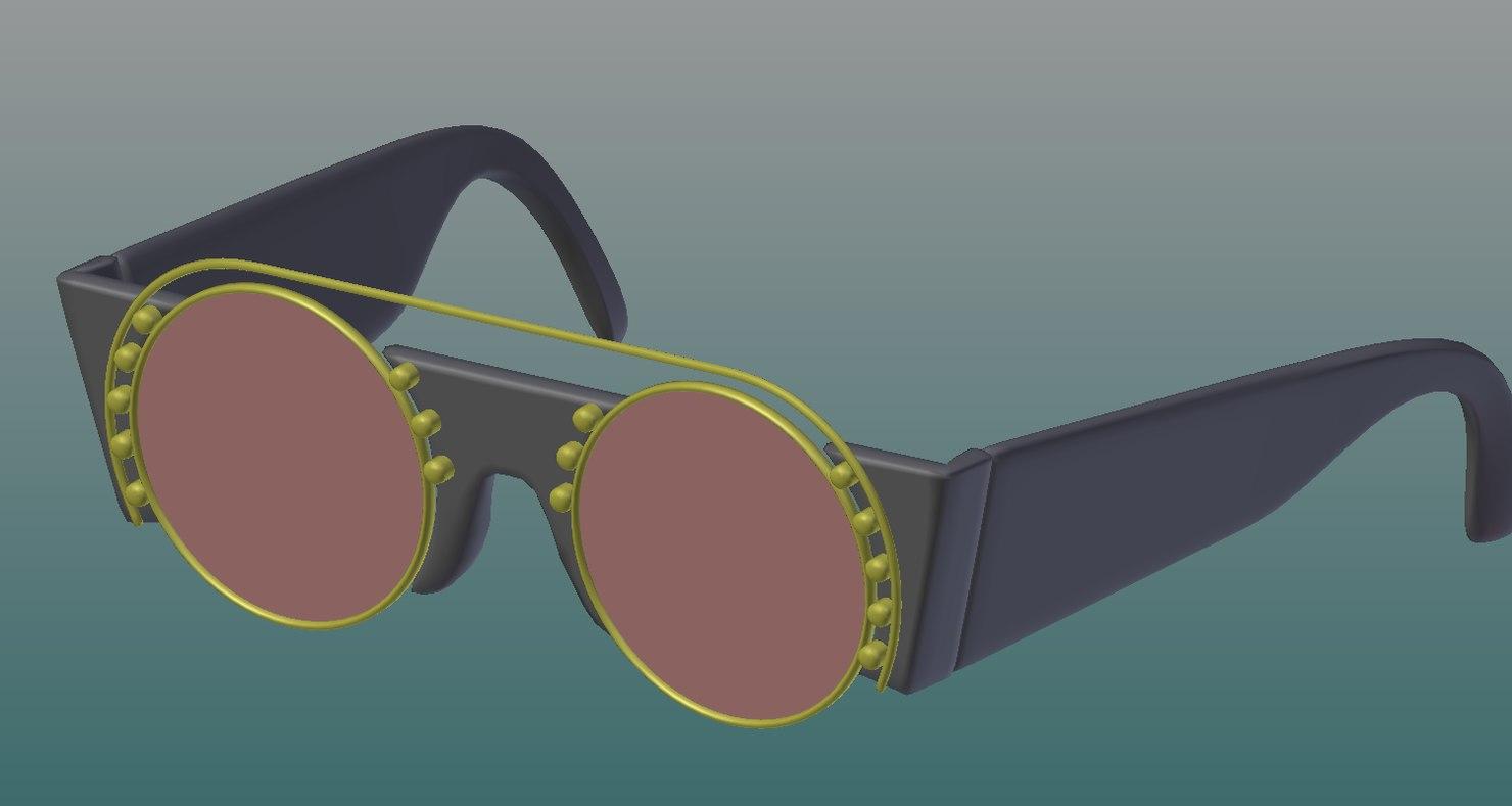 3D sunglasse model